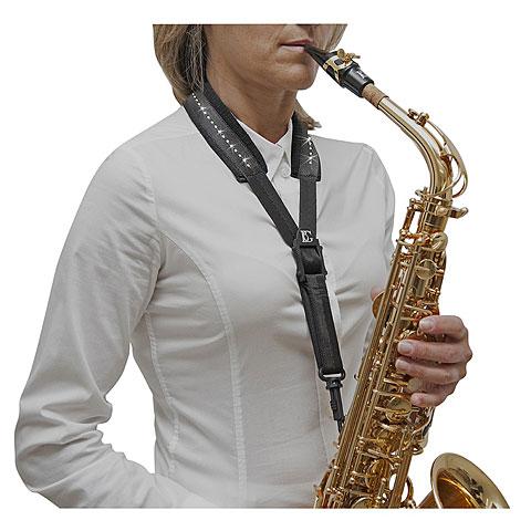 Correa instr. viento BG S10GSHD Saxophone Strap Swarovski