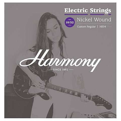Corde guitare électrique Harmony HE04 Nickel Custom Regular 010-052