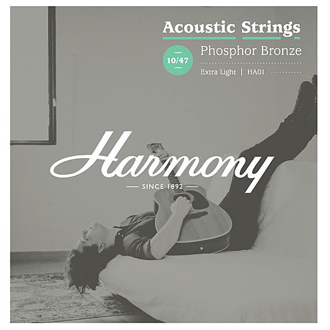 Saiten Westerngitarre Harmony HA01 Extra Light, Phosphor Bronze 010-047
