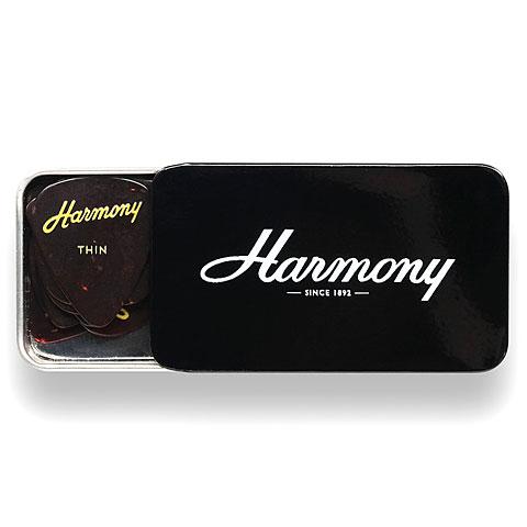 Médiators Harmony Celluloid Tortoise Thin 12 Stück Tin Box