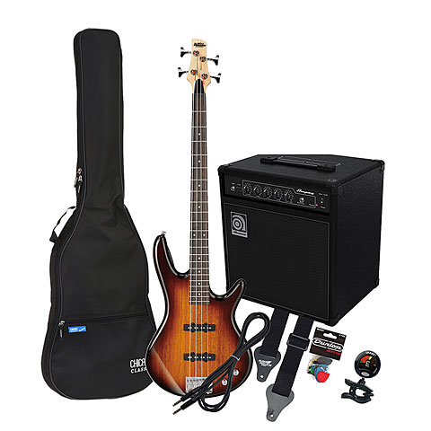 E-Bass Set Ibanez Gio GSR180 BS/ Ampeg BA-108