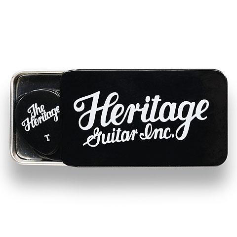 Médiators Heritage Celluloid 347 Black Thin 12 Stück Tin Box