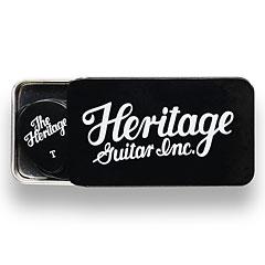 Heritage Celluloid 347 Black Thin 12 Stück Tin Box « Médiators