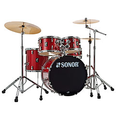 "Sonor AQX 20"" Red Moon Sparkle Studio Drumset « Batería"