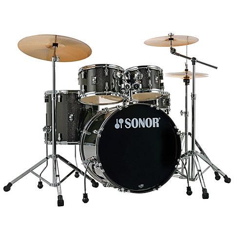 """Schlagzeug Sonor AQX 22"""" Black Midnight Sparkle Stage Set"""