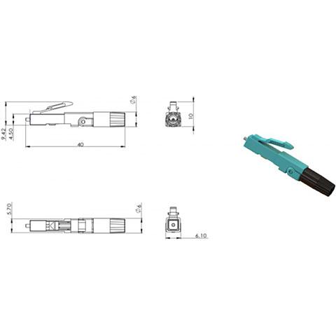 Glasfaser-Verbinder Cleerline SSF SSF-LC-MMFPC-10/10er Pack