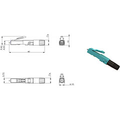 Cleerline SSF SSF-LC-MMFPC-10/10er Pack « Fiber optic connector