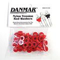 Ersatzteil Danmar Tension Rod Washers 50 Pcs. Red