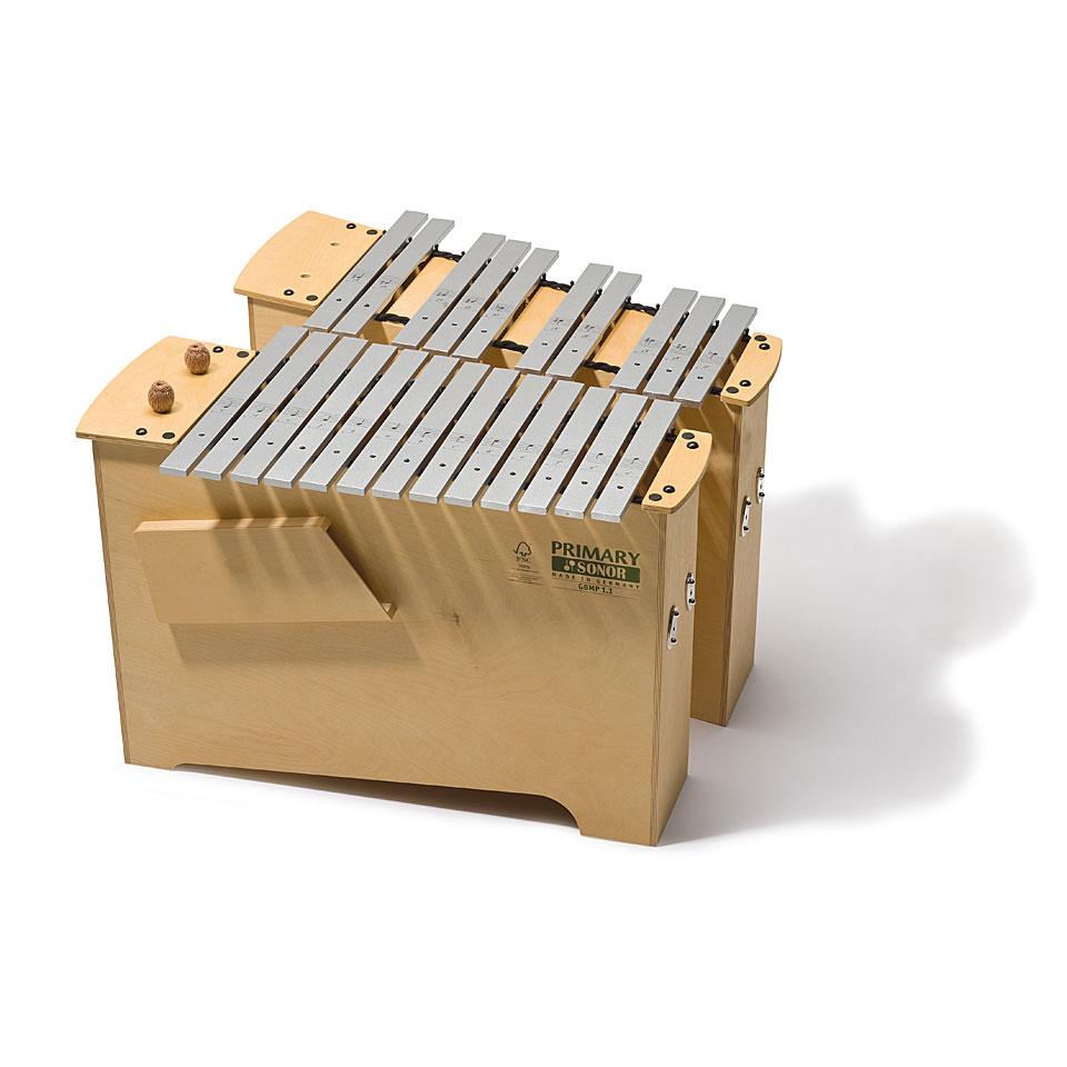 Orffscheinstrumente - Sonor Primary Deep Bass Metallophone GBMP 3.1 Full Set Metallophon - Onlineshop Musik Produktiv