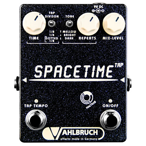 Pedal guitarra eléctrica Vahlbruch Space Time Tap Creme Knob