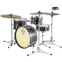 Dixon PODL520PKBKC Little Roomer 5 pcs. Satin Black Coal Shell Set with Hardware « Drum Kit