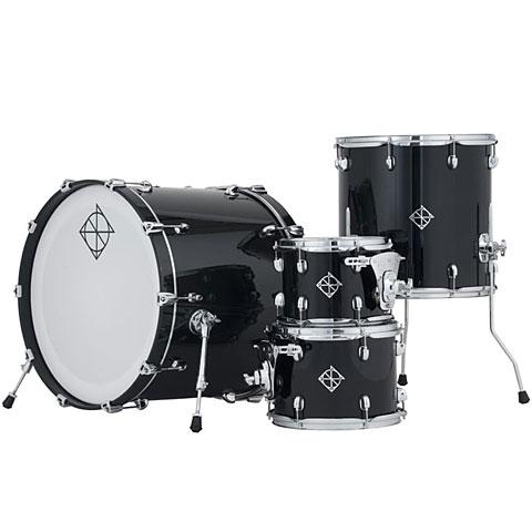 Schlagzeug Dixon PODCSTH422-01-PB Cornerstone Hybrid Shell Set 4pc Piano Black Gloss