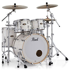 "Pearl Masters Maple Gum 22"" Silver White Swirl Shell Set « Batería"