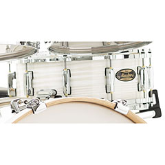"""Pearl Masters Maple Gum MMG1455S/C187 Silver White Swirl 14"""" x 5,5"""" Snare Drum « Caisse claire"""