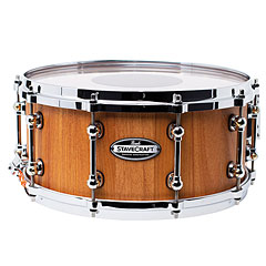 """Pearl Stave Craft SCD1465MK/186 Makha Hand Rubbed 14"""" x 6,5"""" Snare Drum « Caisse claire"""