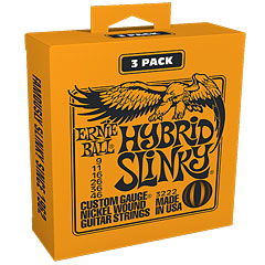 Ernie Ball Hybrid Slinky 3222 .009-046 3er Pack « Cuerdas guitarra eléctr.