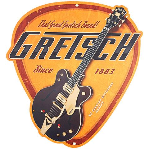 Dekoratiebord Gretsch Guitars Pick Vintage Tin Sign