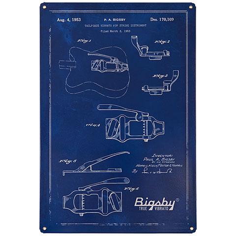Artículos de regalo Bigsby Bigsby Blueprint Tin Sign