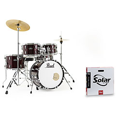 "Pearl Roadshow 18"" Red Wine with Solar Cymbals « Schlagzeug"