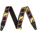 Gitarrengurt Fender Neon Monogrammed Strap Neon Pink/Neon Yellow