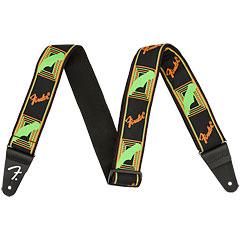 Fender Neon Monogrammed Strap Neon Green/Neon Orange