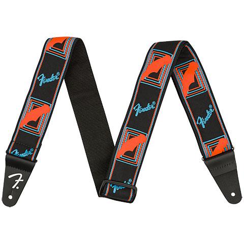 Gitarrengurt Fender Neon Monogrammed Strap Neon Blue/Neon Orange