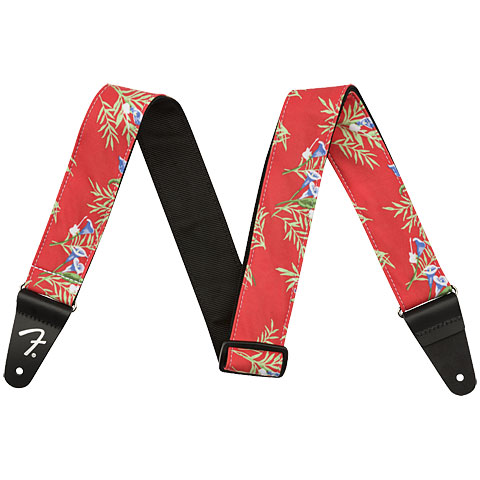 Gitarrengurt Fender Hawaiian Strap Red Floral