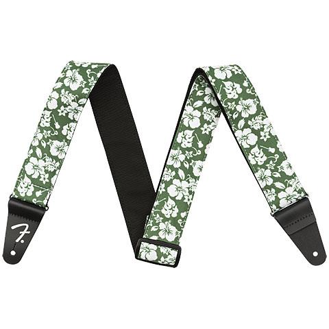 Gitarrengurt Fender Hawaiian Strap Green Floral