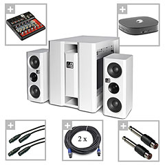 LD Systems DAVE 8 XSW setHome white « Active PA set