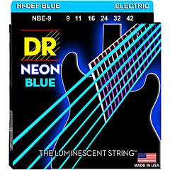 DR Strings Neon Hi-Def Blue Electric NBE-9 Lite « Saiten E-Gitarre