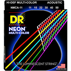 DR Strings Neon Hi-Def Multi-Color Coated NMCA-11 Custom Light « Saiten Westerngitarre