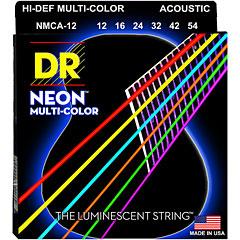 DR Strings Neon Hi-Def Multi-Color Coated NMCA-12 Light « Saiten Westerngitarre