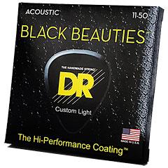 DR Strings Black Beauties BKA-11  Custom Light « Saiten Westerngitarre