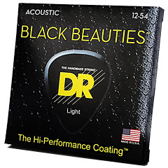 DR Strings Black Beauties BKA-12 Light « Saiten Westerngitarre