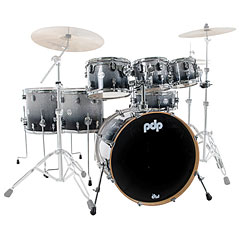 pdp Concept Maple CM7 Silver to Black Fade Shellset « Drumstel