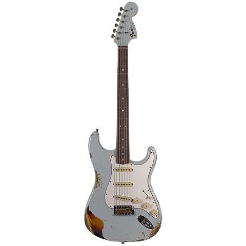 Fender Custom Shop 1967 Relic Strat, Aged Sonic Blue/3TSB « E-Gitarre