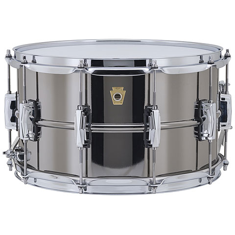 """Snare Drum Ludwig Black Beauty LB408 14"""" x 8"""" Snare Drum"""