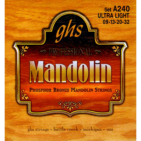GHS A240 Phosphor Bronze Mandolin Strings