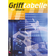 Voggenreiter Grifftabelle für Gitarre « Libros didácticos