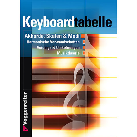Lehrbuch Voggenreiter Keyboardtabelle