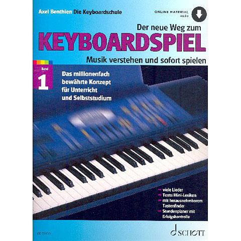 Lehrbuch Schott Der neue Weg zum Keyboardspiel Bd.1 (+online material audio)