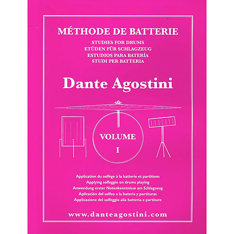 Manuel pédagogique Agostini Methode de Batterie Vol.1 - Solfege Batterie