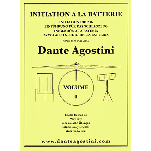 Manuel pédagogique Agostini Methode de Batterie Vol.0 - Initiation