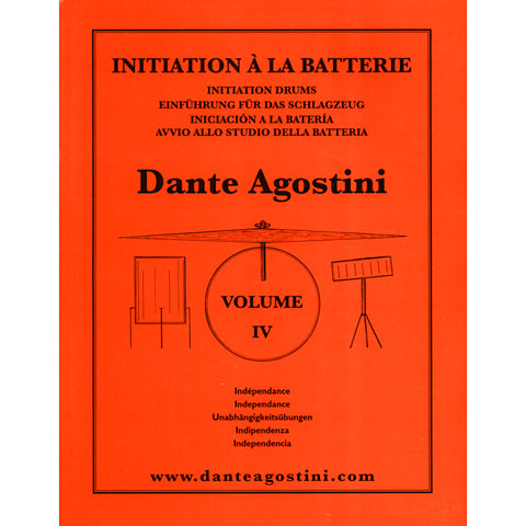 Instructional Book Agostini Methode de Batterie Vol.4 - Independance