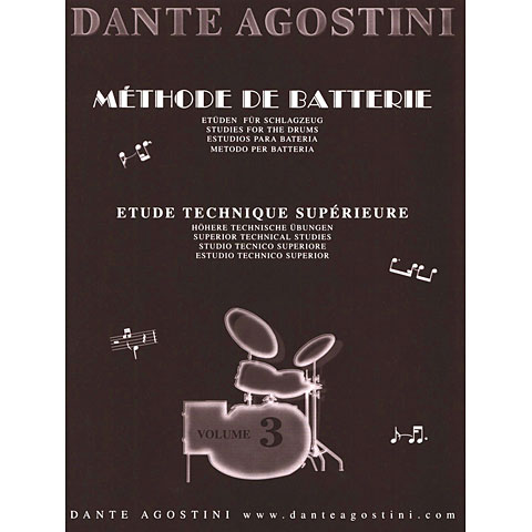 Libros didácticos Agostini Methode de Batterie Vol.3 - Technique Suplement