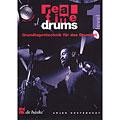 Libro di testo De Haske Real Time Drums 1 - Grundlagentechnik für das Drumset