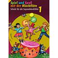 Manuel pédagogique Schott Spiel und Spaß mit der Blockflöte Schule Bd.1