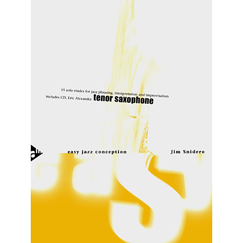 Instructional Book Advance Music Easy Jazz Conception for Tenor & Soprano Saxophone