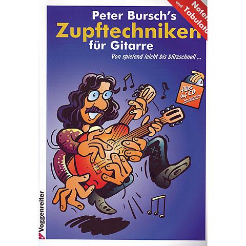 Libros didácticos Voggenreiter Peter Burch's Zupftechniken für Gitarre