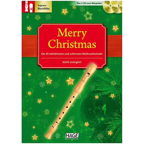 Hage Merry Christmas für Blockflöte